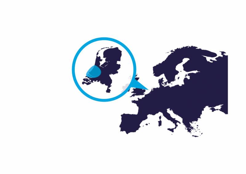 Kaart van onze regio binnen Nederland en Europa