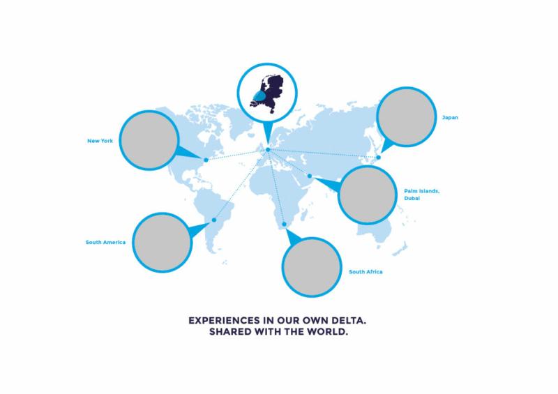 Kaart van onze regio in relatie tot de wereld – innovaties blanco
