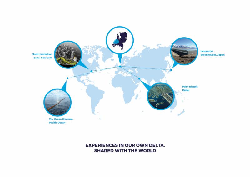 Kaart van onze regio met innovaties in de wereld